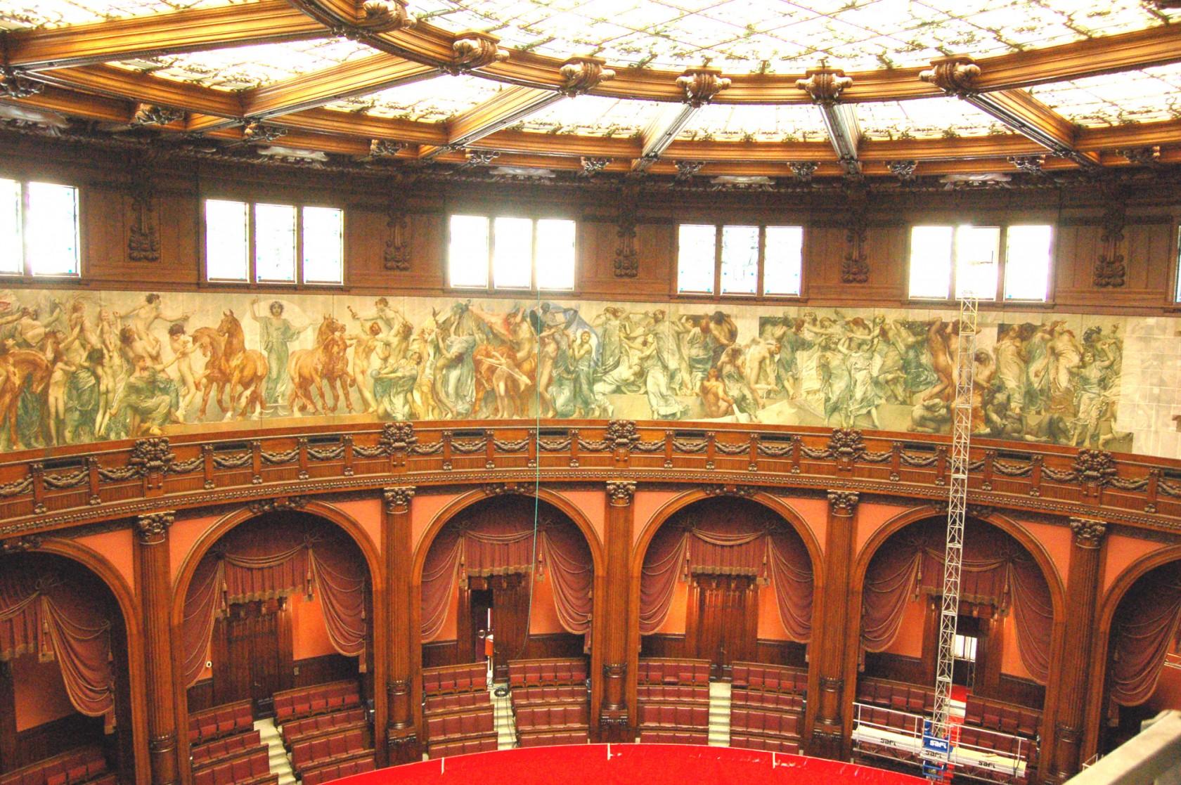 aula parlamentare di palazzo montecitorio a roma