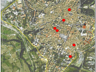 Structural analysis on heritage buildings in the centre of L'Aquila damaged by earthquake