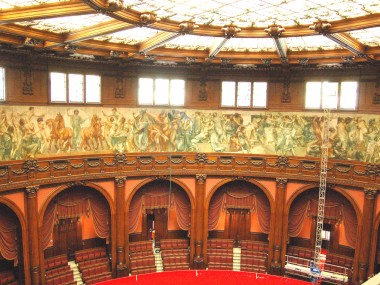 parliamentary hall of Montecitorio Palace in Rome